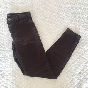 J Brand Chocolate Brown Skinny Jeans